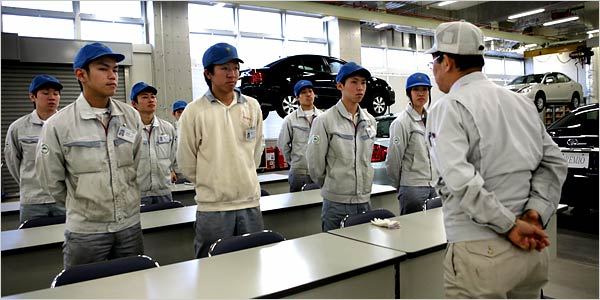 how toyota operates its philosophies between japan Toyota's philosophy of empowering its workers is the centrepiece of a human resources toyota plants in japan and north america have both won the world-wide platinum plant quality award how long does this improvement last theoretically, the impact of additional assets on sales should.